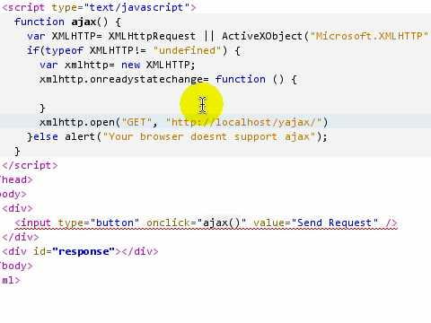 Ajax tutorial 2: Simple ajax example using GET - YouTube