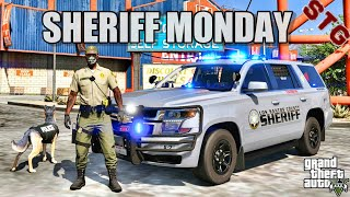 PLAY GTA 5 AS A COP - K9 SHERIFF MONDAY( GTA 5 ROLEPLAY MODS)