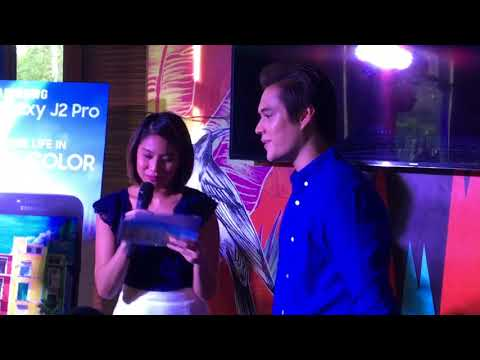 ENRIQUE Gil in a STARING contest with a Korean executive  of Samsung | Galaxy J2 Pro Launch