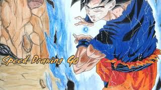 Goku Ultra Instinct Kamehameha Speed Drawing by haidi_art2