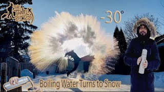 Water Turns To Sฑow Instantly | Crazy Canadian Winter