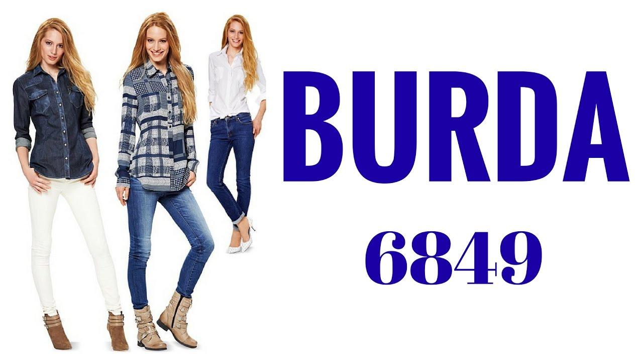 Burda B6849 Sewing Pattern Review - YouTube