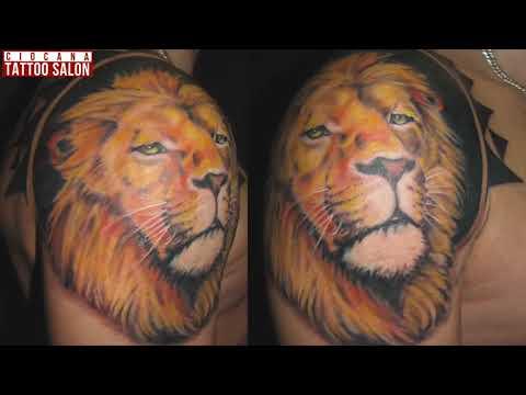 13 - Тату Лев - значение татуировки