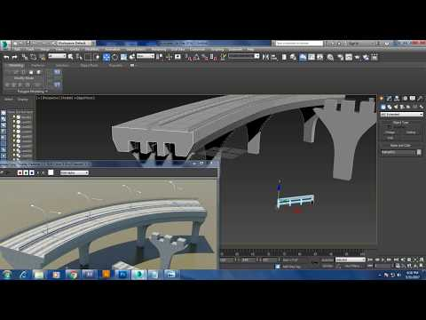 Tutorial on modeling a highway road bridge in 3dsmax.