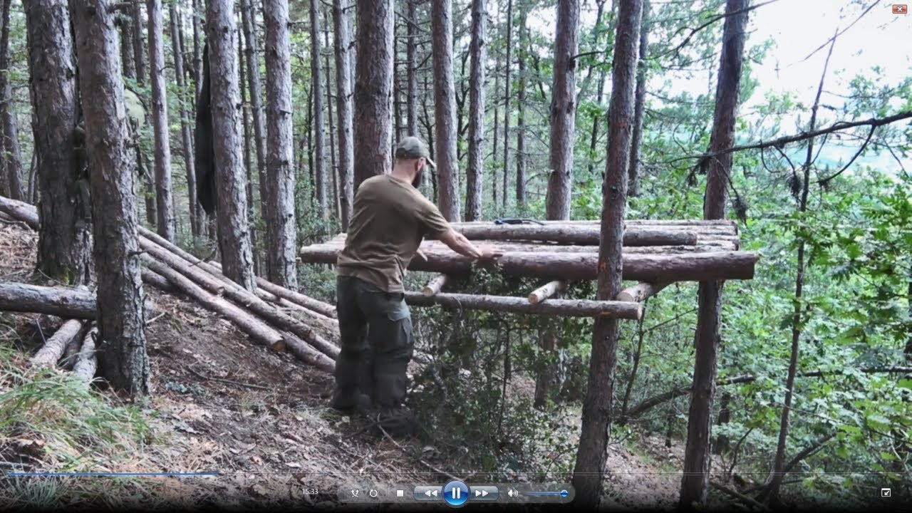Primitive technology: 7 shelter buildings from start to finish. Bushcraft in the woods