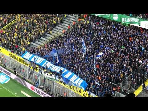 BVB -Schalke Schalker Pyro Support In Dortmund