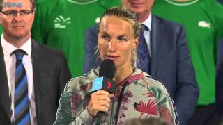 Svetlana Kuznetsova 2016 Apia International Sydney Final Speech
