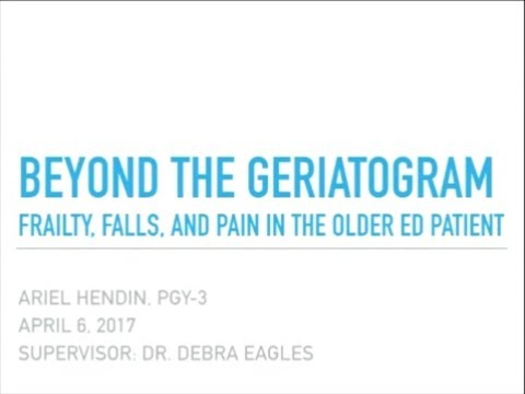 Beyond the Geriatrogram - Frailty, Falls, and Pain in the Older ED Patient