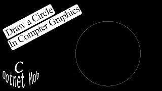 C Graphics Program - Draw Circle Using Bresenham