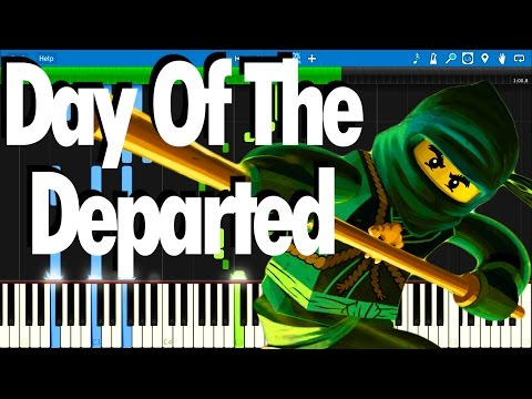 LEGO NINJAGO - Day Of The Departed by The Fold   Synthesia Piano Tutorial