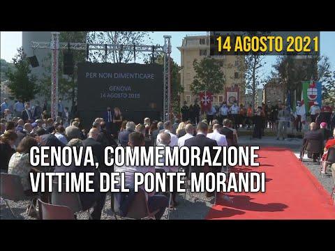 Genova, commemorazione vittime del Ponte Morandi