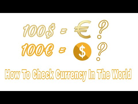 How To Check Or Convert Currency International Currency And Chart Of Dollars 2018