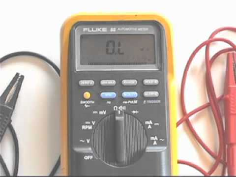 how to read ohms on a multimeter