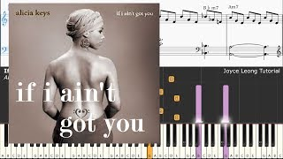 Alicia Keys - If I Ain't Got You (Piano Tutorial & Sheets)