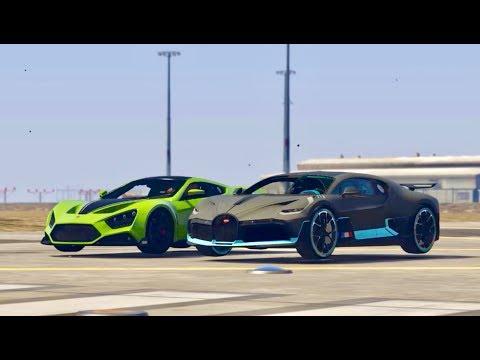 Bugatti Divo vs Zenvo TS1 GT 2018 – Drag Race