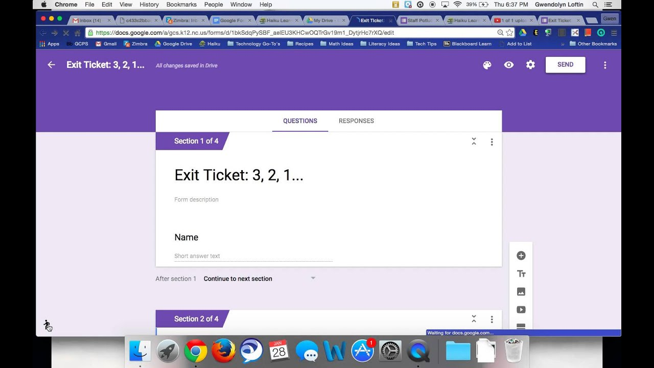 Toggle Between Old and New Google Forms - YouTube