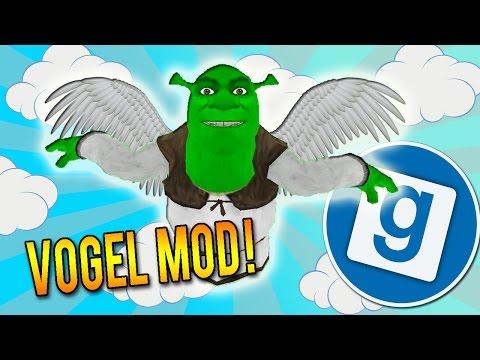 Gmod Vogel Mod - DER FLIEGENDE SHREK (Garry´s Mod Funny Moments Deutsch/German)