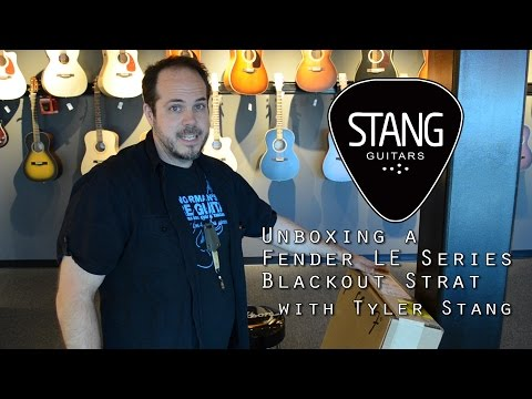 Unboxing A Fender 2015 LE Series Blackout Stratocaster