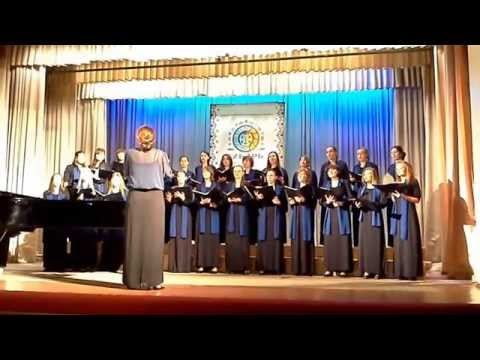 Competitive appearance of the Academic female choir of the Tomsk state University