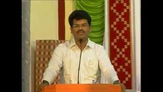 gv selvam speech annual day programme in jain school