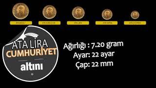 CUMHURİYET ALTINI (ATALİRA) ÇEŞİTLERİ ÖZELLİKLERİ FİYATLARI