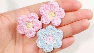 Как связать простой цветок крючком / Цветы крючком мастер-класс