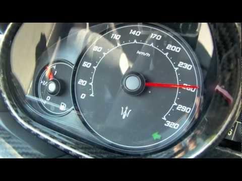 Maserati Granturismo MC Stradale 0-265 km/h accélération (Motorsport)