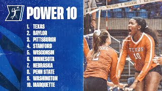 College volleyball's Week 10 power rankings