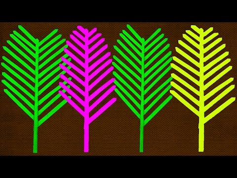 Paper Leaves   Leaves Making With Paper   Paper Craft ideas   Decorative Leaves