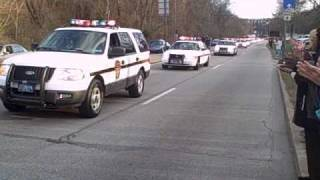 Funeral Procession for 3 Pittsburgh Police Officers Killed 4-4-09