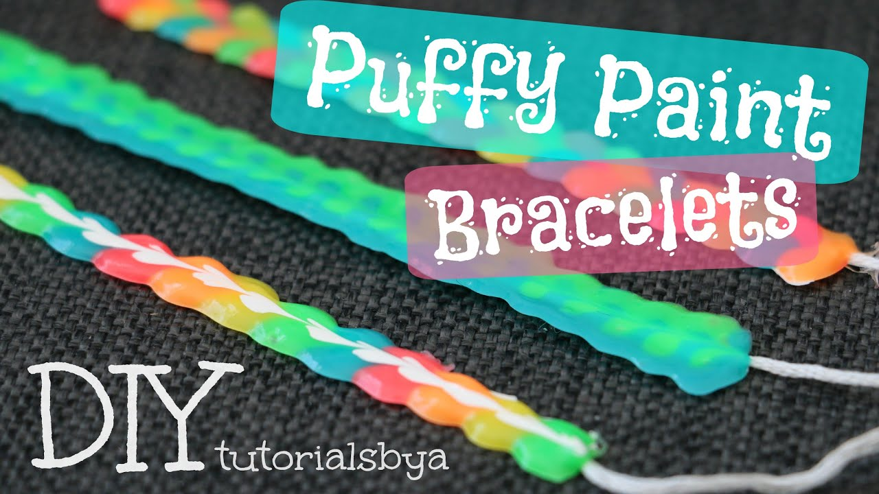 diy fabric puffy paint bracelet tutorial tutorialsbya