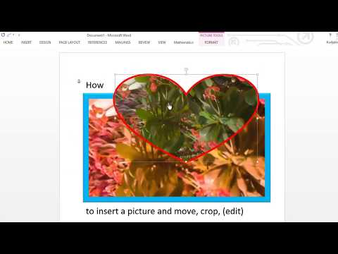 How to insert a picture into Microsoft Word, edit it, and move it to any location.