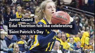 Feature| Edel Thornton shines on Saint Patrick's Day for QU Women's Basketball