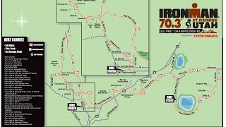 St.George Ironman 70.3 Bike Course Video - First 41 mile.