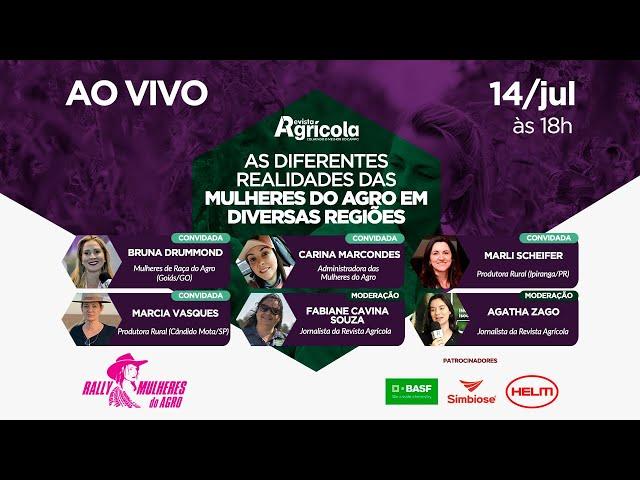 AS DIFERENTES REALIDADES DA MULHER DO AGRO EM DIVERSAS REGIÕES | AO VIVO