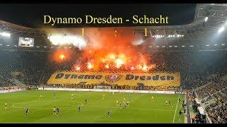 SG Dynamo Dresden- Erzgebirge Aue 1:1 Pyro + Choreo