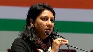 Priya Dutt, MP addressing AICC Session in New Delhi
