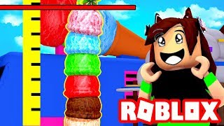 ROBLOX-The BIGGEST COLORFUL ICE CREAM dans le MONDE! (SIMULATEUR DE CRÈME GLACÉE)