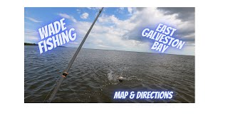 Wade Fishing for Speckled Trout in East Galveston Bay. Galveston fishing 2020 . Kayak fishing spot.