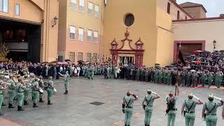 La Legión interpreta el Himno de España en el Traslado del Cristo de la Buena Muerte. Málaga 2019
