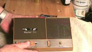 SONY GOOD!  Mayfair BAD!  Mayfair 713 - Vintage Cassette Recorder