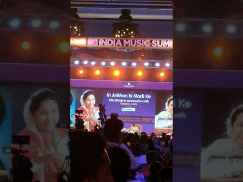 Asha Bhosle Live In Mtv India Music Summit Jaipur