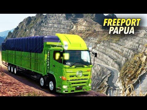 Gila!! Ini dia Jalur Freeport Papua di Euro Truck Simulator 2 #HinoNewGen