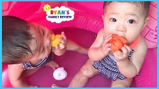 Video Babies and Kids Family Fun Pool Time with Rubber Ducky! Ryan's Family Review download MP3, 3GP, MP4, WEBM, AVI, FLV Desember 2017