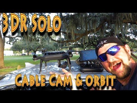 3DR Solo Drone: 3D Robotics Orbit CableCam!!! (12.09.2015)