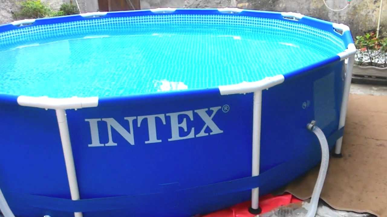Piscina intex youtube for Alberca intex redonda