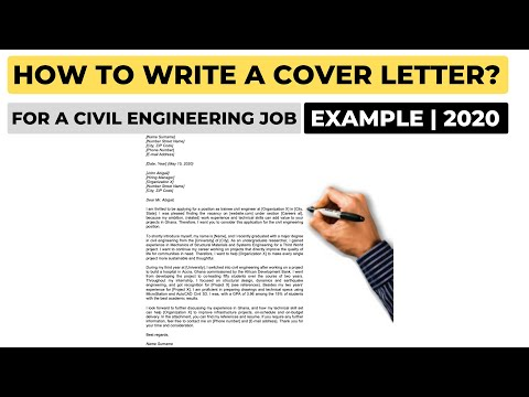 How To Write A Cover Letter For A Civil Engineering Job? (2020) | Example