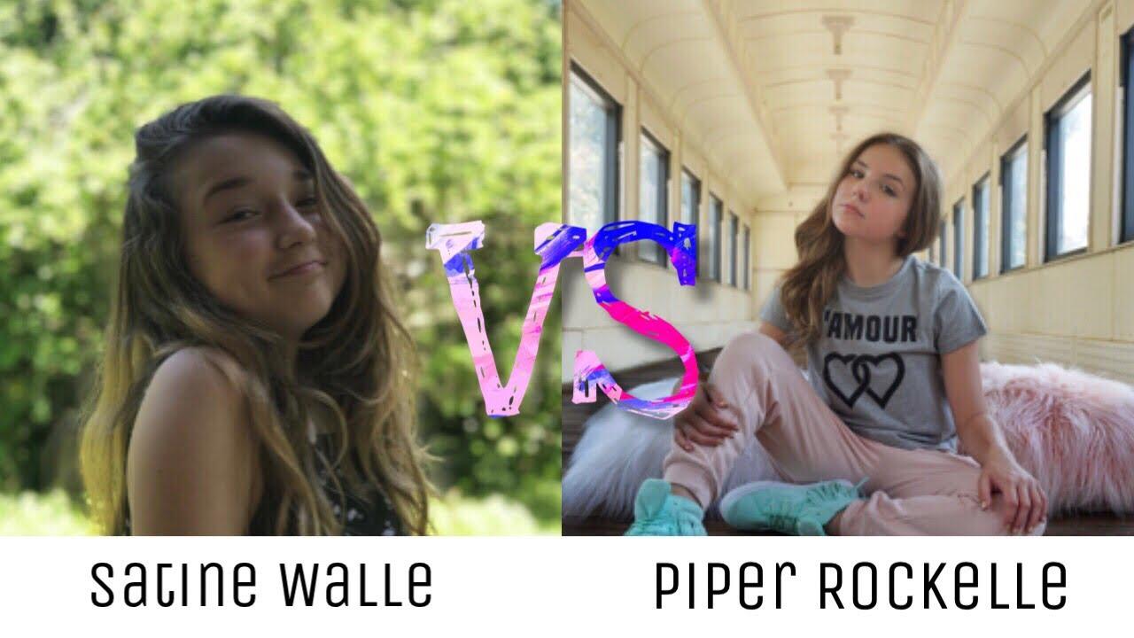 Satine Walle VS Piper Rockelle  Musically  Tik Tok