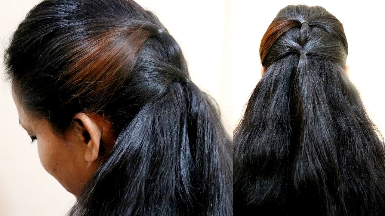 Quick Ponytail Hairstyles Ponytail How To Make Easy Ponytail Quick And Perfect