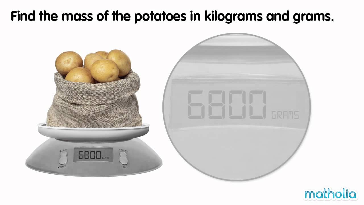 Converting Grams to Kilograms and Grams - YouTube